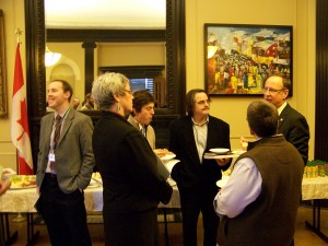 KAIROS delegation members hold a reception and meet with MPs in Parliament